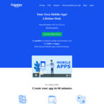Premium Mobile App Creator Plan US$87/~A$125 One Time Fee (Normally US$57/~A$82 per Month) @ Gappsy