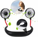 Portable Sports Neck Hanging Fan $15.19 (15% off) + Shipping ($0 with Prime / $39 Spend) @ YOMYM AU via Amazon AU