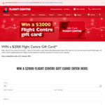 Win a $2,000 Gift Card from Flight Centre