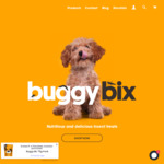 Insect Based Dog Treats - 21% off Storewide with Code + $9.99 Delivery @ Buggy Bix