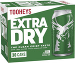 Tooheys Extra Dry Cans 30 Block 375mL, Two Cases $89 (Pickup), Further $10 off with Newsletter Voucher @ BWS (Excludes TAS)