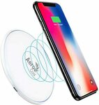 AeroCool Slimline Qi 10W Fast Wireless Charger for Android/Apple White $4.90 + Postage ($0 with Prime/ $39 Spend) @ HT Amazon AU