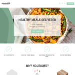 $20 off Your First Order of Healthly Meals + Delivery @ Nourish'd