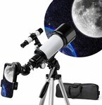 Telescope for Astronomy, 70mm Aperture 400mm f/5.7 AZ Mount $88 (Was $148) Delivered @ kvvjvv via Amazon AU