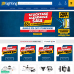 Clearance Items from $1 + 11% off Storewide + Bonus LED Task Lamp (with $500 Spend) + Postage ($0 with $200 Order) @ JD Lighting