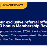 American Express Essential Credit Card: 30k Points for Referrer and 10k for Referee ($750 Spend in 3 Months) @ American Express