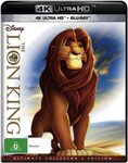 Lion King (4K UHD + Blu-ray) $12 + Delivery ($0 with Prime/ $39 Spend) @ Amazon AU