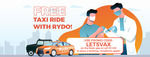 Free Taxi Ride to Vaccination Appointment (Up to $25 in Fare) @ Rydo