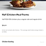 [QLD, WA, SA, NT] ½ Chicken, Regular Side & 390ml Drink $14 in-Store ($15 via Delivery) @ Nando's (Peri Perks Membership Req)