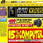 15% off of Computers at JB Hi-Fi (Excludes Sony, Apple and Tablets)