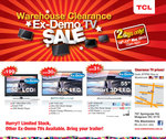 TCL Warehouse Clearance Ex-Demo TV SALE from $190 - Pick up Only - VIC - Mulgrave