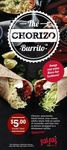 $5 Chorizo Burrito Today Only (03/06/13) at Salsa's (All States)