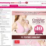 Try Mamaway's Best Selling Crossover Sleep & Nursing Bra for Just $10! Limited Stock