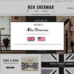 40% off Storewide at Ben Sherman. Includes Sales Items. Free Delivery