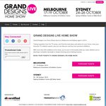 Free Double Pass to Grand Designs Live Show - Sydney or Melbourne