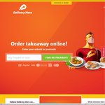 $5 off Orders (Min $20) - Delivery hero