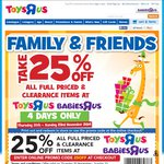 25% off Full Priced and Clearance Items at Toys R Us