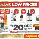 $20 off $100 Spend at Liquorland