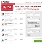 Parallels 10 Upgrade Bundle with 1Password, Kaspersky, Snagit & More $54.95 (Normally $293)