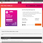 $15 Telstra Pre-Paid SIM Starter Kit + $12 Cashback through Cash Rewards