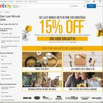 15% off eBay Click and Collect at Selected Retailers