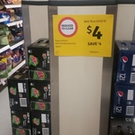 12pk Schweppes Soft Drink 375ml Cans - $4 Coles Charles Street Tasmania