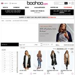 "boohoo.com 40% off Menswear, 40% off ""Jackets, Knits & Shoes"""