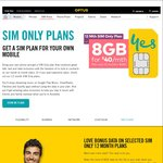 Optus 15GB Sim Only (12 Month) Plan - $50/Month [New Customers Only]