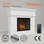 """""""Eden"""" 2000W Electric Fireplace Mantel Suite with Realistic Flame Effect - DealsOz"""