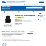 Belmont High Back Office Chair $97 (Was $189) @ Officeworks (Clearance)