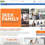 [WA/SA] IKEA FAMILY Feb Offer Is $15 off - Min Spend $99 (IKEA Family Membership Required)