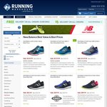 50% off All New Balance Footwear @ Running Warehouse Australia