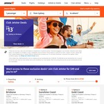 Jetstar Domestic One Way Flights from $13 (Melbourne-Gold Coast), $49 (Sydney-Perth) for Jetstar Club Members ($49 Fee)