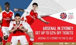 Upto 52% Off Arsenal vs Sydney FC / Sydney Wanderers Tickets at the ANZ via Groupon