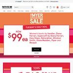 $10 off $60, $15 off $80, $20 off $100 @ MYER Online