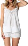 100% Cotton Papinelle White Swiss Dot Camisole $4.30 (Was $49.95), White Swiss Dot Nightie $5.26 (Was $59.95) @ David Jones