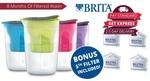 Brita Fill and Enjoy 1.5l Jug with 5 Filters $30.60 Posted (Via App) @ Groupon