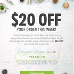 Youfoodz - $20 off (Min Spend $69)