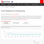 Melbourne to Hong Kong Return (Qantas $599, Skyscanner $557)