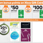 20% off $50 Gift Cards (Catch, Spa & Wellness, Iconic, Gourmet Traveller) & Rewards Points with Xbox Gift Cards @ Woolworths