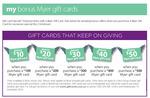 10% Bonus Myer Gift Card. Buy $500 Get $50 for Free Maximum $5000