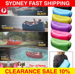 Air Sleeping Bag Lounge Beach Sofa Bed Inflatable Camping Lounger $15.92 or $16.72 Delivered -Multi Colors@ Simply Homeware eBay