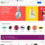 10% off Sitewide @ eBay ($75 Min Spend)