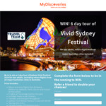Win a Sydney Vivid Festival Experience for 2 Worth $3,500 from Innovations Direct