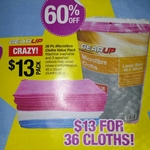36 Microfibre Cloths Value Pack (40cm x 30cm) $13 @ Repco