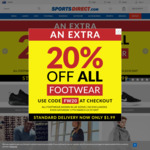 Extra 20% off All Footwear @ Sports Direct AU