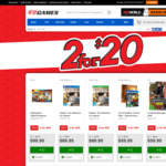 2 Selected Games for $20 @ EB Games