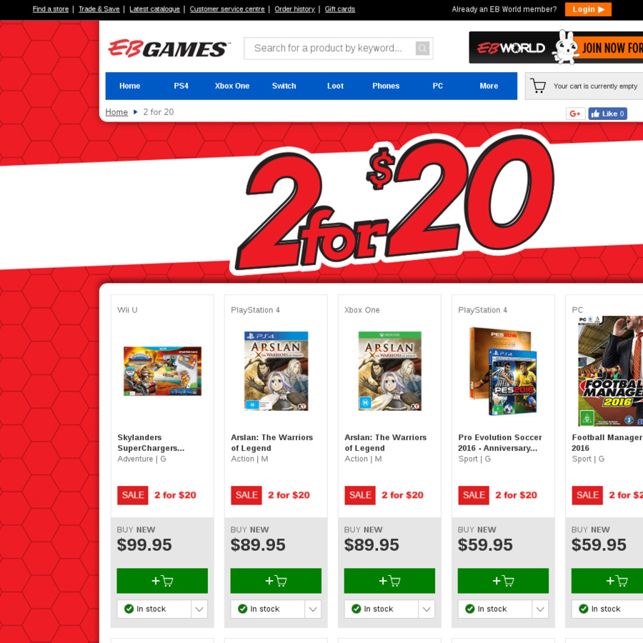 5ea34a51b 2 Selected Games for  20   EB Games - OzBargain
