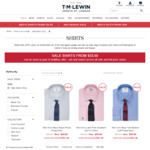 T.M.Lewin Shirts from $30.15 @ T.M.Lewin ($10 Shipping, Free Over $120)