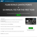 ANZ Frequent Flyer Black Credit Card: Bonus 75,000 Qantas Points / $0 Annual Fee in First Year (Min. Spend $2,500 in 1st 3 Mths)